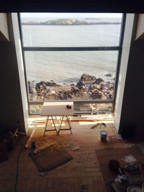 Dalkey living room under construction Sherrard Design