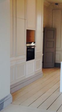 Dalkey kitchen under construction Sherrard Design