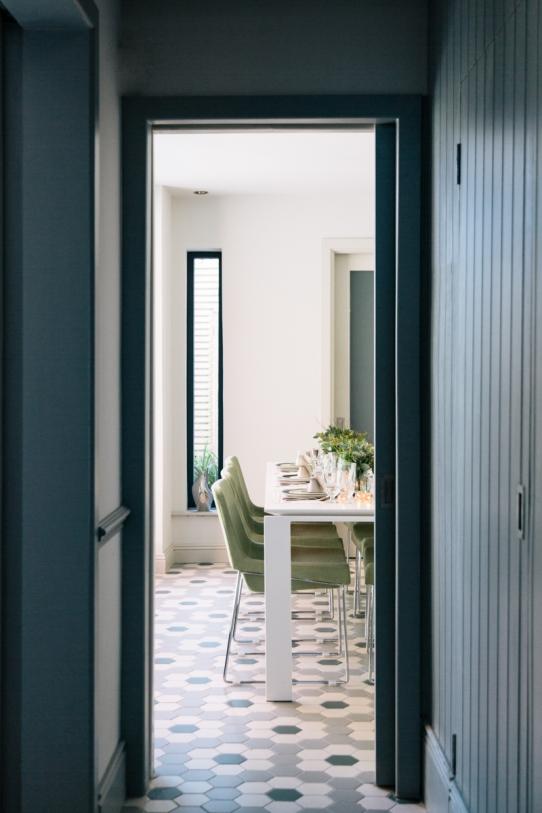 Drumcondra panelled passageway to kitchen Sherrard Design