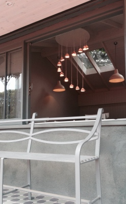Bench and lighting De Vesci Tennis Club Sherrard Design