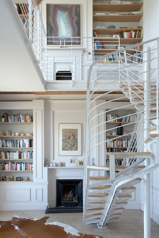 Sandycove double height hall and staircase Sherrard Design